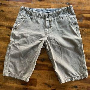 "Fresh Gear Chino's Men Shorts Size 29"" Light Gray"
